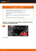 Kuinka vaihtaa jousijalan tukilaakeri taakse BMW E82-autoon – vaihto-ohje
