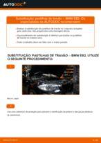 Mudar Jogo de pastilhas de travão Discos de freio BMW faça você mesmo - manual online pdf