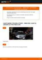Asendamine Piduriklotsid BMW 1 SERIES: käsiraamatute