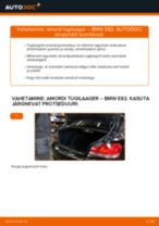 Kuidas vahetada BMW E82 taga-amordi tugilaager – õpetus