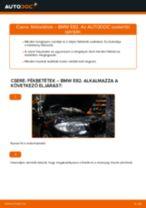 Elülső fékbetétek-csere BMW E82 gépkocsin – Útmutató