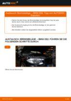 Wie Bremsklötze BMW 1 SERIES wechseln und einstellen: PDF-Leitfaden