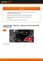 Udskift tårnleje bag - BMW E82   Brugeranvisning