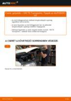 Lépésről-lépésre PDF-útmutató - VW TRANSPORTER V Box (7HA, 7HH, 7EA, 7EH) Fékpofakészlet csere
