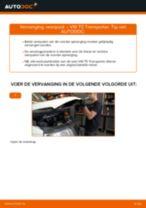 Online gratis instructies het Veerpoten vervangen VW TRANSPORTER V Box (7HA, 7HH, 7EA, 7EH)