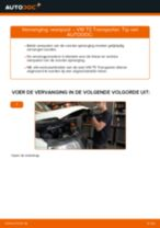 Schokbrekers vervangen VW TRANSPORTER: werkplaatshandboek