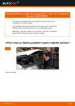 arrière + avant Amortisseurs VW Transporter V Van (7HA, 7HH, 7EA, 7EH) | PDF tutoriel de remplacement