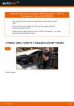 VW Tlmiče perovania zadné a predné vymeniť vlastnými rukami - online návody pdf