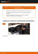 Zamenjavo Blazilnik VW TRANSPORTER: navodila za uporabo