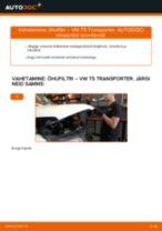 Kuidas vahetada VW T5 Transporter õhufiltri – õpetus