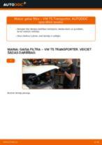 Kā nomainīt: gaisa filtru VW T5 Transporter - nomaiņas ceļvedis