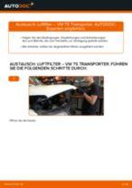 Nummernschildbeleuchtung wechseln VW TRANSPORTER: Werkstatthandbuch