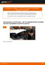 Wie VW T5 Transporter Luftfilter wechseln - Anleitung