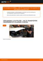 Tips van monteurs voor het wisselen van VW VW Multivan T5 2.0 TDI Luchtfilter