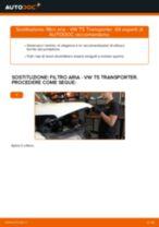 Come cambiare è regolare Filtro aria motore VW TRANSPORTER: pdf tutorial