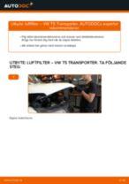 Montering Luftfilter VW TRANSPORTER V Box (7HA, 7HH, 7EA, 7EH) - steg-för-steg-guide