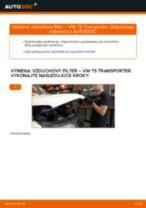 Online bezplatné pokyny ako obnoviť Vzduchový filter VW TRANSPORTER V Box (7HA, 7HH, 7EA, 7EH)
