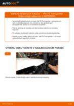 Ako vymeniť a regulovať Brzdový kotouč VW TRANSPORTER: sprievodca pdf