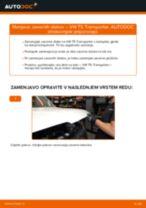 Zamenjavo Zavorni kolut VW TRANSPORTER: navodila za uporabo