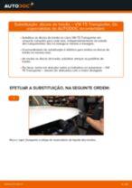 Como mudar e ajustar Discos de freio VW TRANSPORTER: tutorial pdf