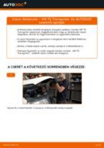 Elülső féktárcsák-csere VW T5 Transporter gépkocsin – Útmutató