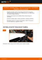 Pakeisti Rėmas, stabilizatoriaus tvirtinimas VW TRANSPORTER: instrukcija