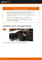 Montering Bromsskiva VW TRANSPORTER V Box (7HA, 7HH, 7EA, 7EH) - steg-för-steg-guide