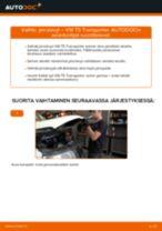 Kuinka vaihtaa jarrulevyt eteen VW T5 Transporter-autoon – vaihto-ohje