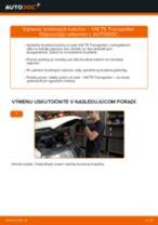 Montáž Brzdový kotouč VW TRANSPORTER V Box (7HA, 7HH, 7EA, 7EH) - krok za krokom príručky