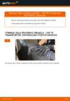 Ako vymeniť a regulovať Mechanizmus Stieračov VW TRANSPORTER: sprievodca pdf