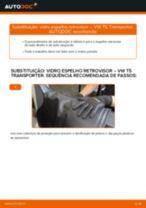 Mudar Bucha De Eixo VW TRANSPORTER V Box (7HA, 7HH, 7EA, 7EH): guia pdf