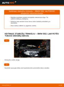 Kaip atlikti keitimą: 120d 2.0 BMW E82 Stabdžių Kaladėlės