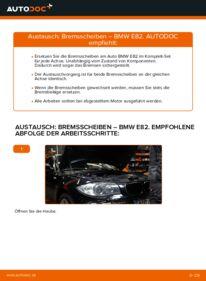 Wie der Wechsel durchführt wird: Bremsscheiben 120d 2.0 BMW E82 tauschen