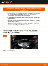 Wie der Wechsel durchführt wird: Bremsscheiben BMW E82 120d 2.0 123d 2.0 135i 3.0 tauschen