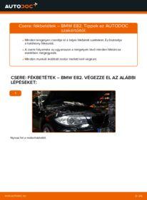 Hogyan végezze a cserét: 120d 2.0 BMW E82 Fékbetét
