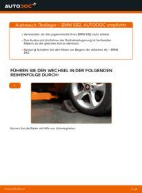 Wie der Austausch bewerkstelligt wird: Radlager beim 120d 2.0 BMW E82