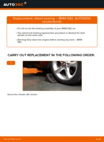 How to carry out replacement: Wheel Bearing on 120d 2.0 BMW E82