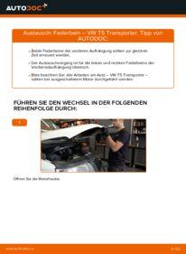Wie der Ersatz vollführt wird: Stoßdämpfer am VW TRANSPORTER