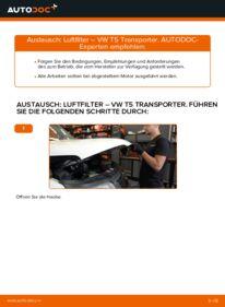 Wie der Ersatz vollführt wird: Luftfilter am VW TRANSPORTER