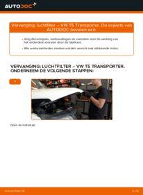 Vervangen: Luchtfilter VW TRANSPORTER