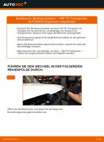 Wie der Ersatz vollführt wird: Bremsscheiben am VW TRANSPORTER