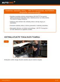 Kaip atlikti keitimą: 2.5 TDI VW T5 Van Stabdžių diskas