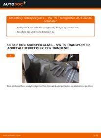 Slik bytter du Sidespeilglass på VW TRANSPORTER