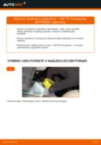 Montáž Brzdové doštičky VW TRANSPORTER V Box (7HA, 7HH, 7EA, 7EH) - krok za krokom príručky