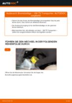 VW TRANSPORTER V Box (7HA, 7HH, 7EA, 7EH) Bremsbacken wechseln vorne und hinten Anleitung pdf