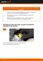 Austauschen von Scheibenbremsbeläge VW TRANSPORTER: PDF kostenlos