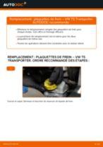 Comment changer et régler Kit de plaquettes de frein VW TRANSPORTER : tutoriel pdf