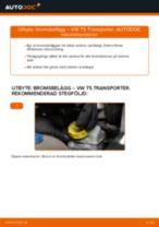 Byta Bromsbeläggsats bak och fram VW själv - online handböcker pdf