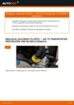 Kako zamenjati avtodel zavorne ploščice zadaj na avtu VW T5 Transporter – vodnik menjave