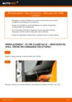 Manuel d'atelier MERCEDES-BENZ Classe ML pdf